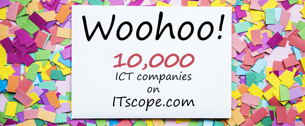 ITscope anniversary: 10,000 ICT companies on ITscope.com